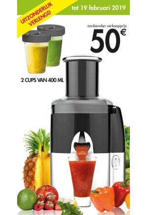 Juice Expert: 2 cups van 400 ml gratis
