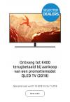 Samsung QLED TV tot €400 terugbetaald