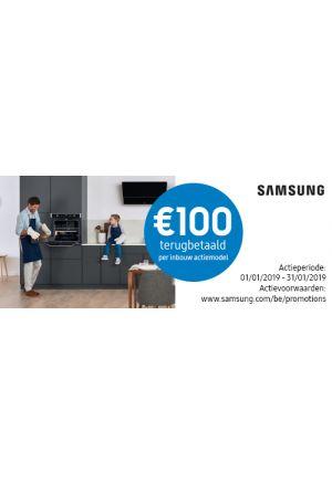 Samsung Inbouw: €100 cashback