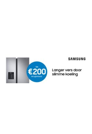 Samsung koelkast: tot €200 cashback
