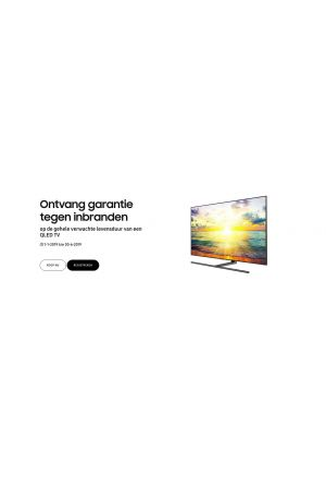 Samsung: QLED TV garantie